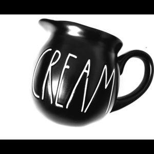 "RAE DUNN Black ""Cream"" Pitcher"